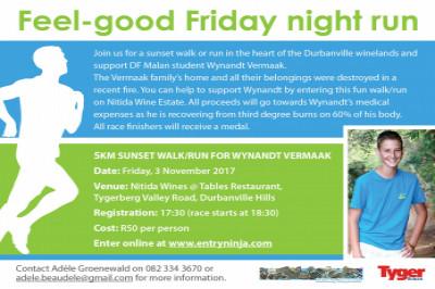 5km Sunset Walk/Run for Wynandt Vermaak
