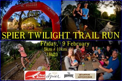 Spier Twilight Trail run - Summer's final one.