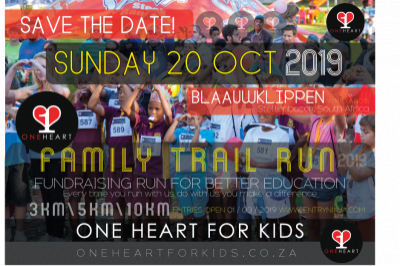 ONE HEART FAMILY RUN 2019  -BLAAUWKLIPPEN, STELLENBOSCH