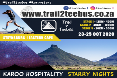 Trail2Teebus 2020 - 3day Karoo Trail Run - Presented by SEESA