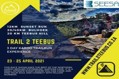 Trail2Teebus 2021 - 3day Karoo Trail Run - Presented by SEESA