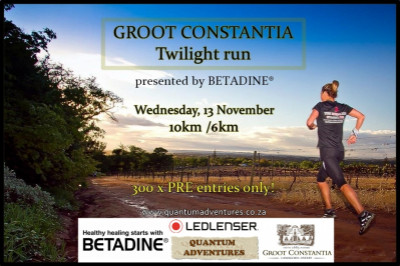 GROOT CONSTANTIA TWILIGHT RUN - presented by LEDLENSER.