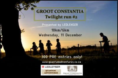 GROOT CONSTANTIA TWILIGHT RUN #2 - presented by LEDLENSER.