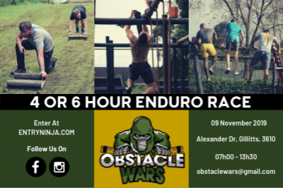 4 OR 6 HOUR OBSTACLE WARS ENDURO RACE