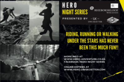 Hero Adventure Night Series # Rhebokskloof Trail Run & MTB