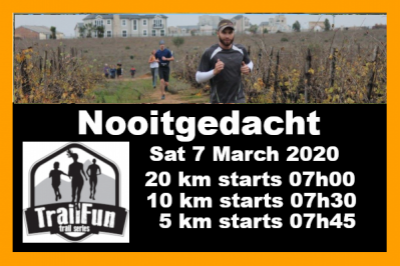 TrailFun Autumn Series 1 of 4 : Nooitgedacht