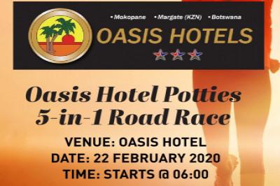 Oasis Hotel Potties 5-in-1 Road Race