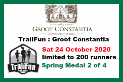 TrailFun Spring Series 2 of 4 : Groot Constantia