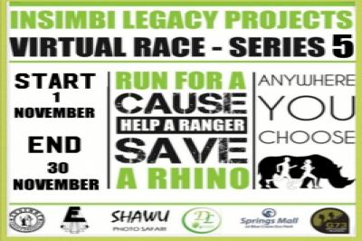 Run for a cause, Help a Ranger, Save a Rhino #Series 5 Virtual Run