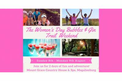 The  Women's Day Bubbles & Gin Trail Weekend