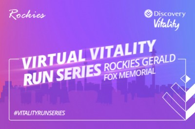 Rockies Gerald Fox Memorial Virtual Road Race with G Fox with Discovery Vitality