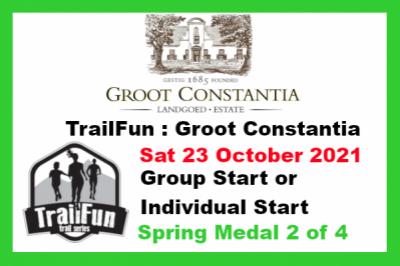 TrailFun Spring Series 2 of 4 : Groot Constantia