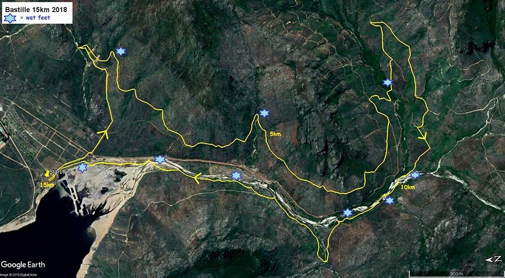Bastille 15km 2018 Map kms